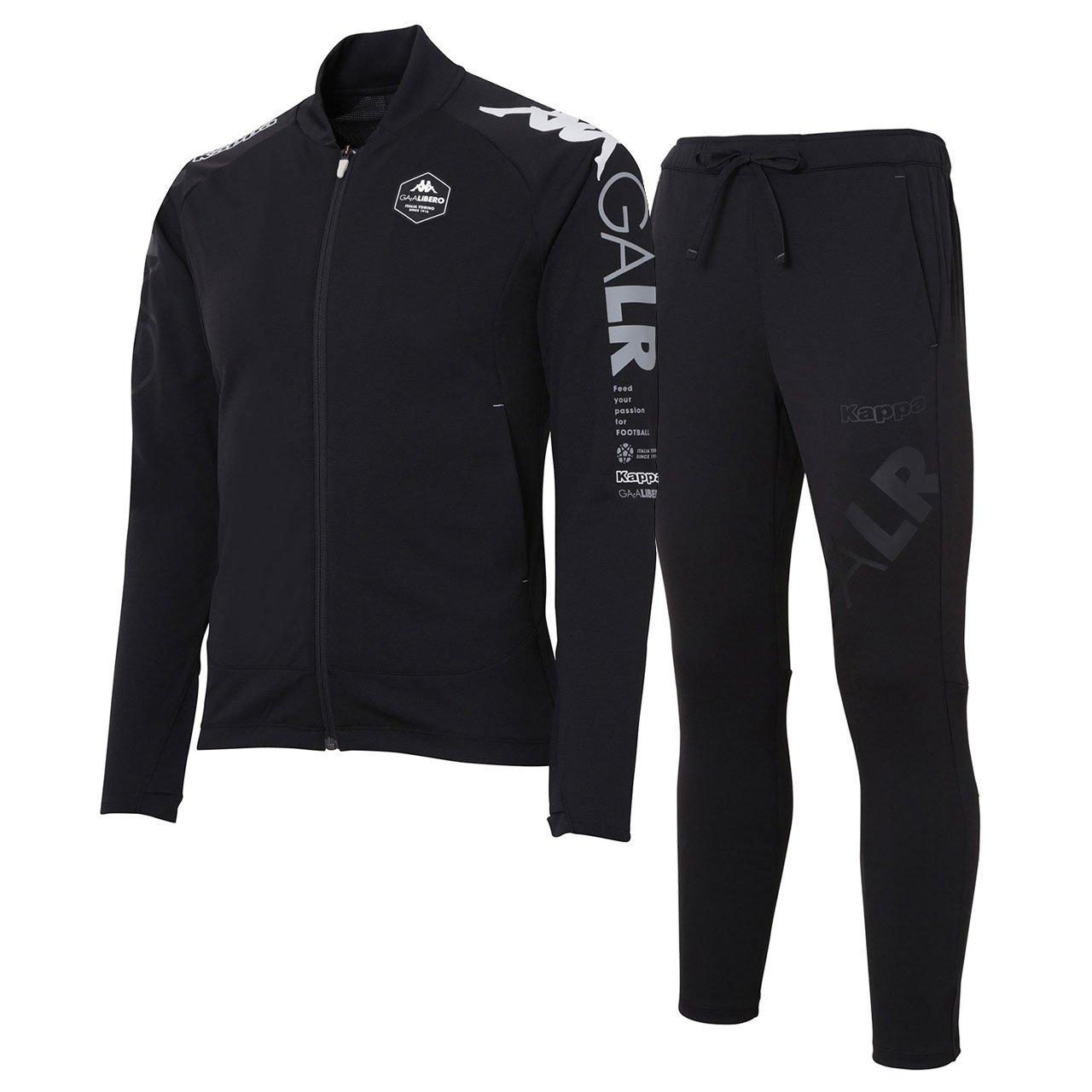 カッパ(Kappa) 軽量ストレッチトレーニングジャケット&パンツ 上下セット(ブラック/ブラック) KF812KT21-BK-KF812KB21-BK B07DXK32L8 XO|ブラック/ブラック ブラック/ブラック XO