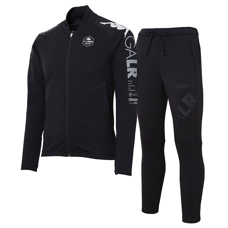 カッパ(Kappa) 軽量ストレッチトレーニングジャケット&パンツ 上下セット(ブラック/ブラック) KF812KT21-BK-KF812KB21-BK B07DXM2R1Pブラック/ブラック L