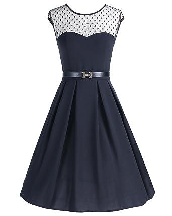 Wedtrend Damen Swing Kleid Cocktailkleid A-Linie Party Abendkleid mit  Gürtel  Amazon.de  Bekleidung dcdef141d5