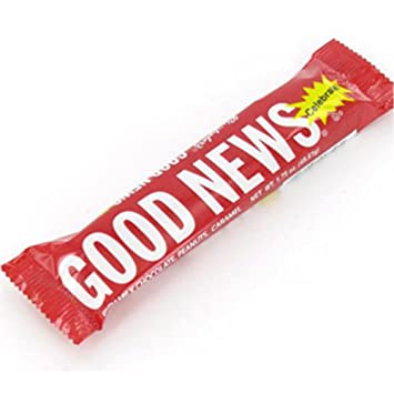 amazon com good news candy bars 36 count grocery gourmet food