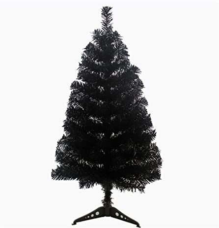kupark 3ft christmas tree artificial with plastic stand home office christmas holiday decoration black