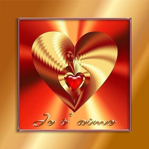 Cadeau D Amour Et Du Coeur Je T Aime 1 Amazonfr
