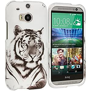 Accessory Planet(TM) Tiger 2D Hard Snap-On Design Rubberized Case Cover Accessory for HTC One M8 by ruishername