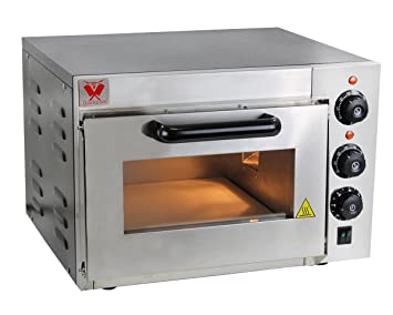 Beeketal BPO Serie - Horno profesional para pizzas con superficie de ladrillos refractarios, ideal para
