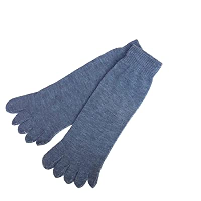 1Pair Men Casual Breathable Cotton Five Finger Toes Socks Stretch Crew Toe Socks
