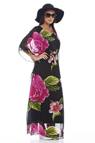 241bd4c60759 AX Paris Women's Floral Batwing Maxi Dress at Amazon Women's Clothing store: