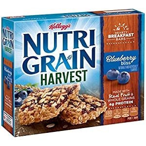 Kellogg's Nutri-Grain Fruit and Oat Harvest Bars (Blueberry, 8.8 oz)