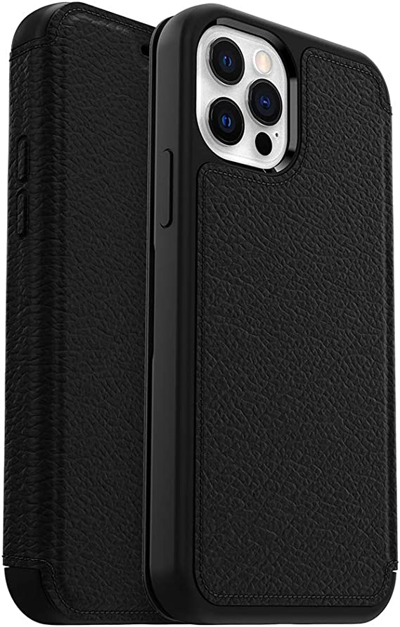 OtterBox Strada Series Case for iPhone 12 & iPhone 12 Pro - Shadow (Black/Pewter)