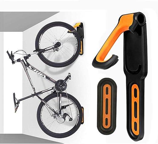 Hosdog - Soporte de Pared para Bicicleta para Ahorrar Espacio, Ganchos para Colgar con Soportes para neumáticos, para Pared de Bicicleta, para Uso en Interiores o Exteriores: Amazon.es: Hogar