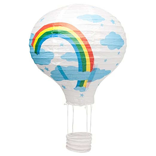 Paper lantern childrens 14 35cm white hot air balloon lamp light paper lantern childrens 14quot 35cm white hot air balloon lamp light shade aloadofball Images