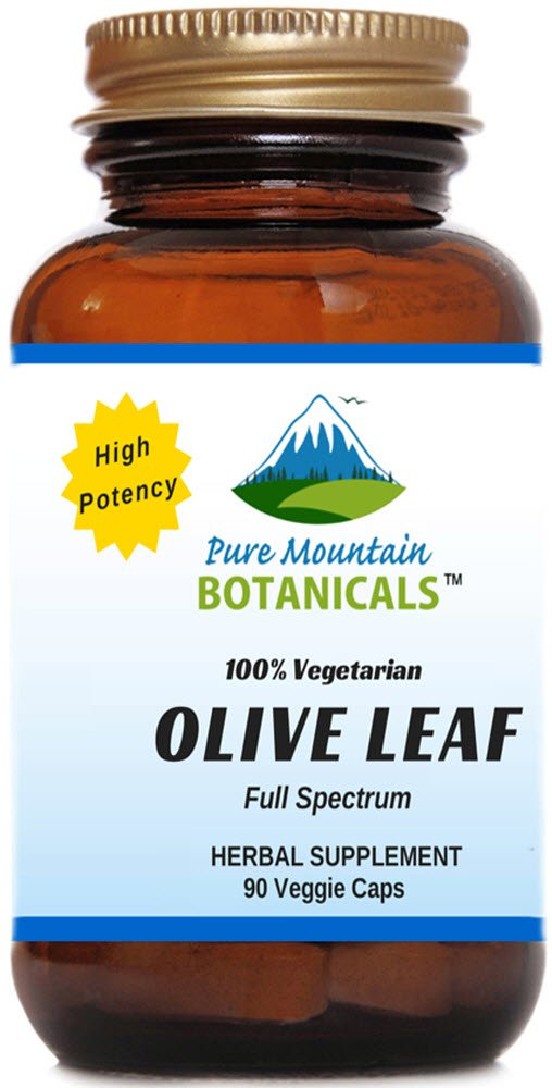 High Potency Olive Leaf. 90 Kosher Veggie Capsules 400mg Organic Olive Leaf Powder plus Potent Herb Extract