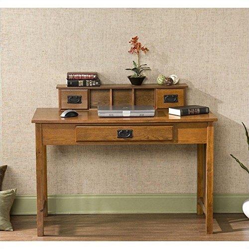 Oak Wide Desk - 9