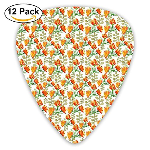 Newfood Ss Charming Blossom Garden Field Spring Branches Guitar Picks 12/Pack Set