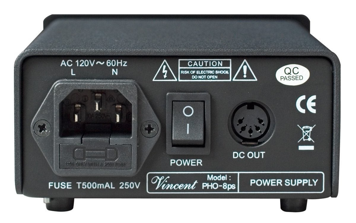 Vincent PHO 8 Phono Stage MM/MC Outboard Power Supply Silver by Vincent (Image #3)
