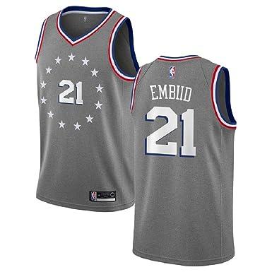 f501e3190 Amazon.com  Majestic AthleticRE Joel Embiid  21 Philadelphia 76ers 2018-19  Swingman Men s Jersey  Clothing