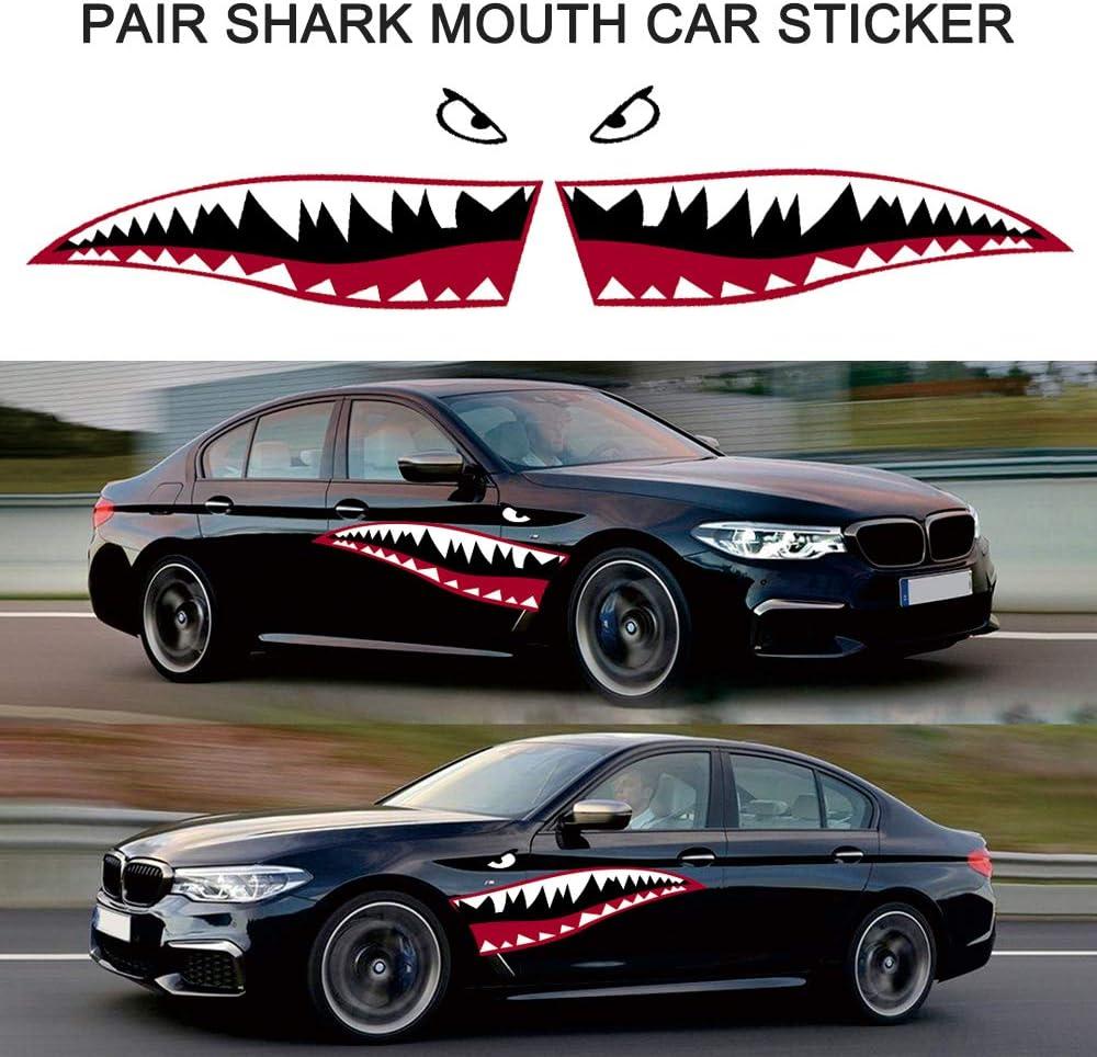 GoolRC Pair Shark Teeth Mouth Reflective Decals Sticker Graphics Car Sticker Decals Accessories