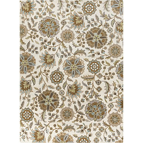 Surya Athena ATH-5063 Transitional Hand Tufted 100% Wool Ivory 8' x 11' Floral Area Rug