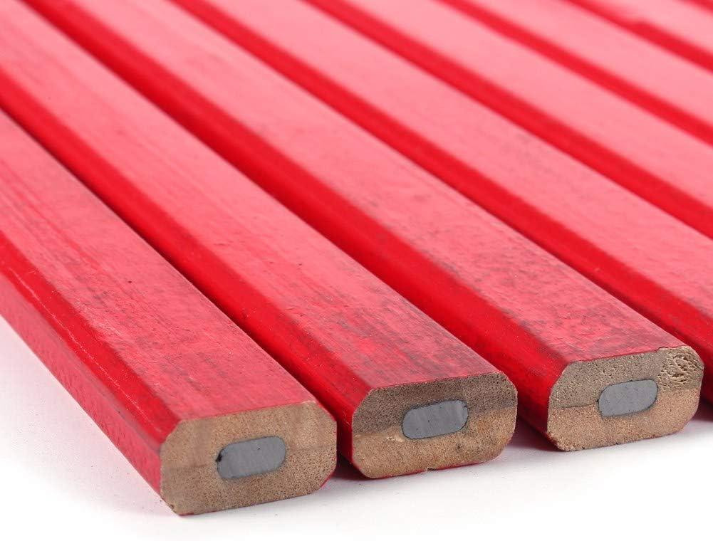 Markierungswerkzeuge f/ür die Holzbearbeitung Markierung f/ür die Holzbearbeitung Woodwork Pencil Focket 10 St/ück//Set Carpenter Pencil