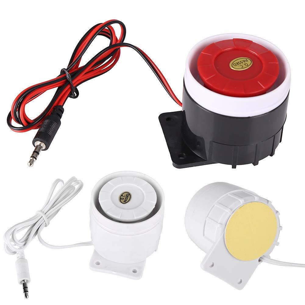 Forart 31ft 95cm Indoor Wired Piezoelectric Buzzerdc 12v Mini Wiring Home Alarm Siren Horn 110db Security