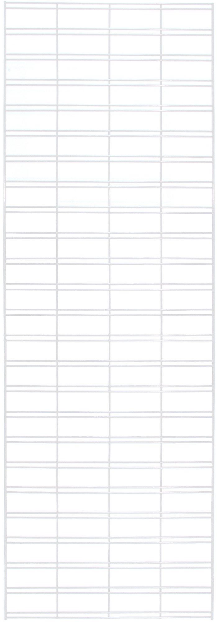 KC Store Fixtures A04255 Slatgrid Panel, 2' x 6', White (Pack of 3)