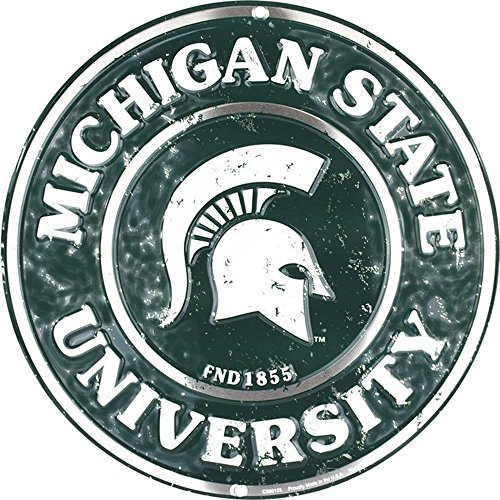Michigan State Spartans Ornaments (Signs 4 Fun Srcms Michigan State Spartans Round Sign)
