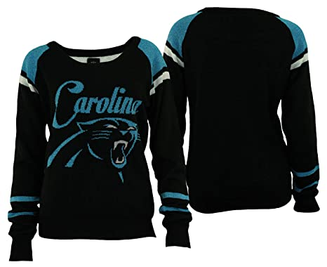 Forever Collectibles Carolina Panthers Glitter Scoop Neck Sweater - Womens  Small f7f2a83764