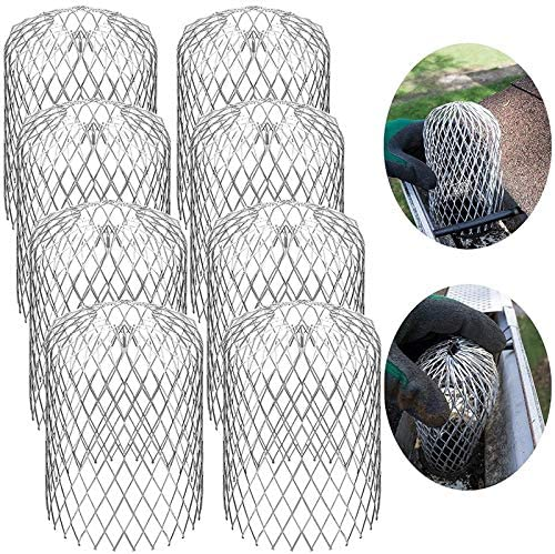 Timagebreze 8PCS Malla de Filtro de Hoja Malla de Filtro Anti-Hoja Aleros de Jard/íN Tubo de Drenaje Tapa de Filtro Malla de Filtro Telesc/óPico Libre