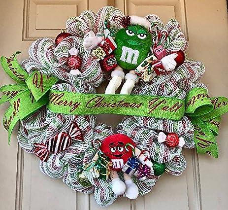 Amazon.com: M&Ms Christmas Wreath with 2 Adorable Plush MMs ...