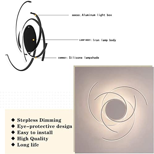 BINB LED Ceiling Light,Dimmable Dining Room Bedroom Fixtures ,Remote Control Changing Color Ceiling Lamps