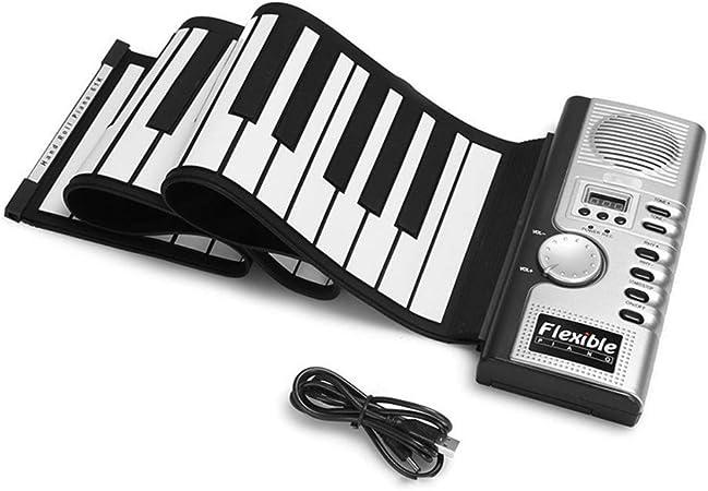 Piano portátil y flexible con 61 teclas, 128 tonos, ritmos ...