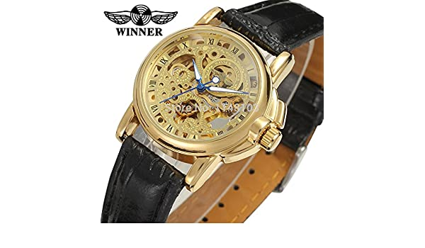 Amazon.com: Automatic Mechanical Watch Winner Women Dress Watches Reloj Mujer: Watches