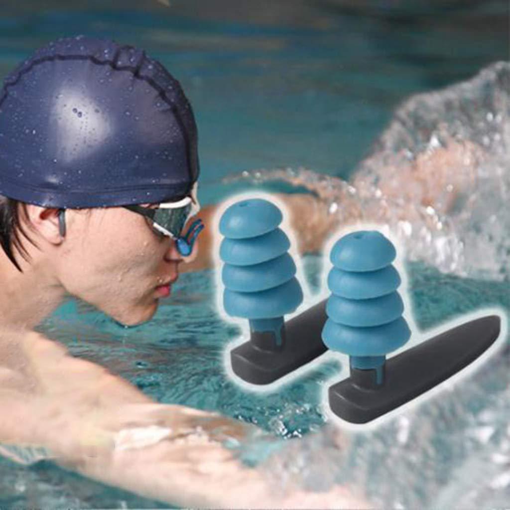 con cancellazione del rumore Cansenty in morbido silicone Tappi per orecchie da nuoto per proteggere ludito Light Blue riutilizzabili impermeabili