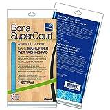 Bona AX0003499 Super Court Athletic Floor Care Microfiber Wet Tacking Pad, 60'' Diameter, Light/Dark Blue