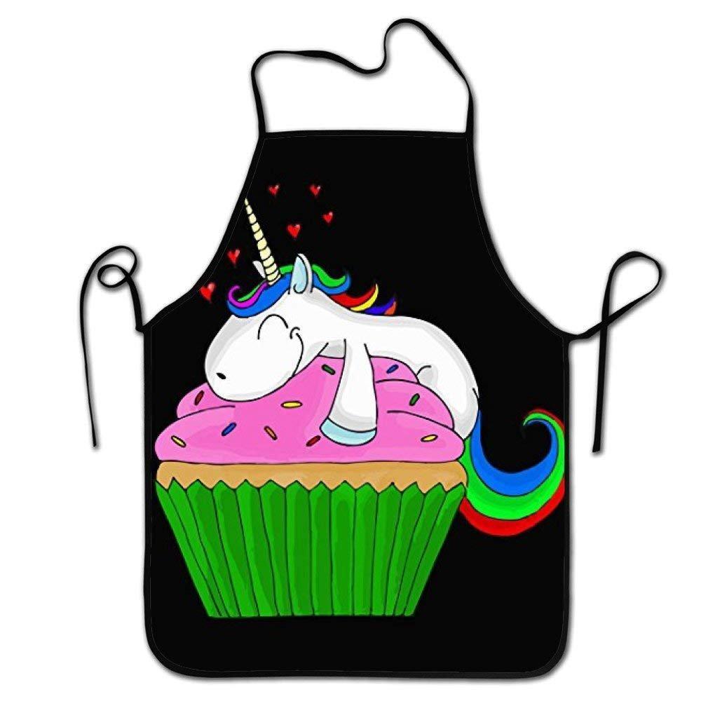 Hustor Mode Motif Licorne Cupcake Tablier de Cuisine, réglable Confortable Cook Tabliers pour Gril