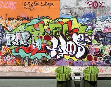 photo wall mural no 31 \u0027graffiti wall\u0027 400x280cm, dimensions 280x400image unavailable image not available for