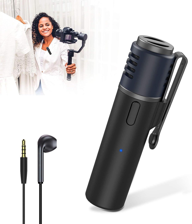 JBHOO Micrófono de Solapa Bluetooth 15M Clip de Solapa Inalámbrico en Micrófono Recargable Cancelación de Ruido SmartMic para iPhone Android Grabación de Video Entrevista Enseñanza Podcast Vlogging