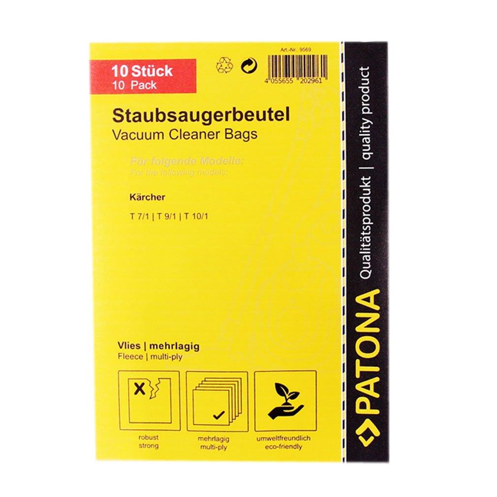 T10//1 Sacchetto cinque strati in vello sintetico 6.904-084.0 PATONA 10x Sacchetti per aspirapolvere per K/ärcher T 7//1 T9//1