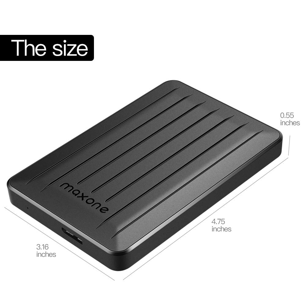 160GB Portable External Hard Drive- 2.5 Inch External Hard Drives for Laptop,Desktop,Wii U,MacBook,Chromebook (160GB, Black) by Maxone (Image #7)