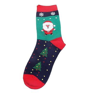 Calcetines Mujer Divertidos Invierno Antideslizantes Navidad Mujer NiñA Calcetines Casuales LindoAlgodóN Suave Y Transpirable Calcetines Calientes