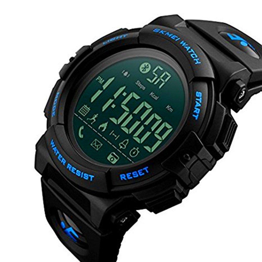 Bluetooth Sport Smart Watch, Farsler 50M Waterproof Calorie Track Pedometer Mens Digital Sport Watch