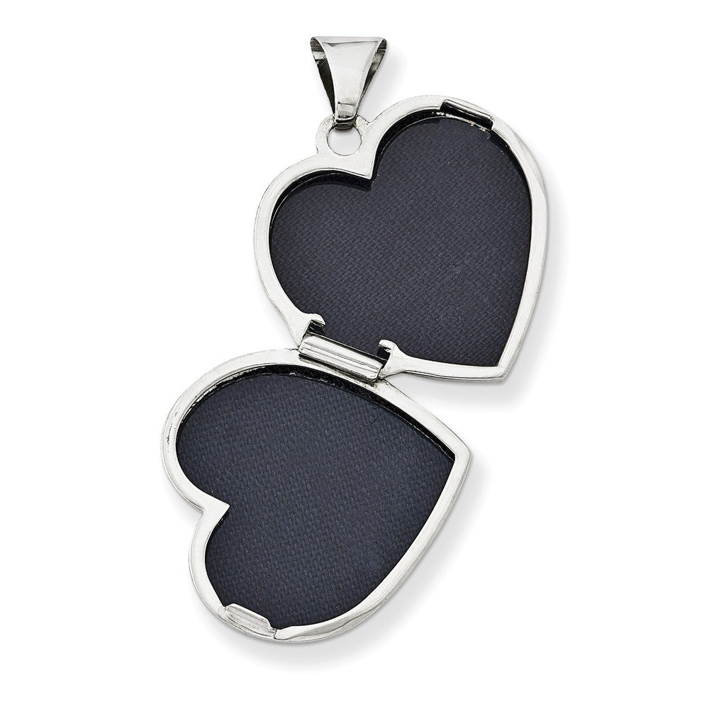 23mm x 18mm Mia Diamonds 925 Sterling Silver Plain 18mm Heart Locket