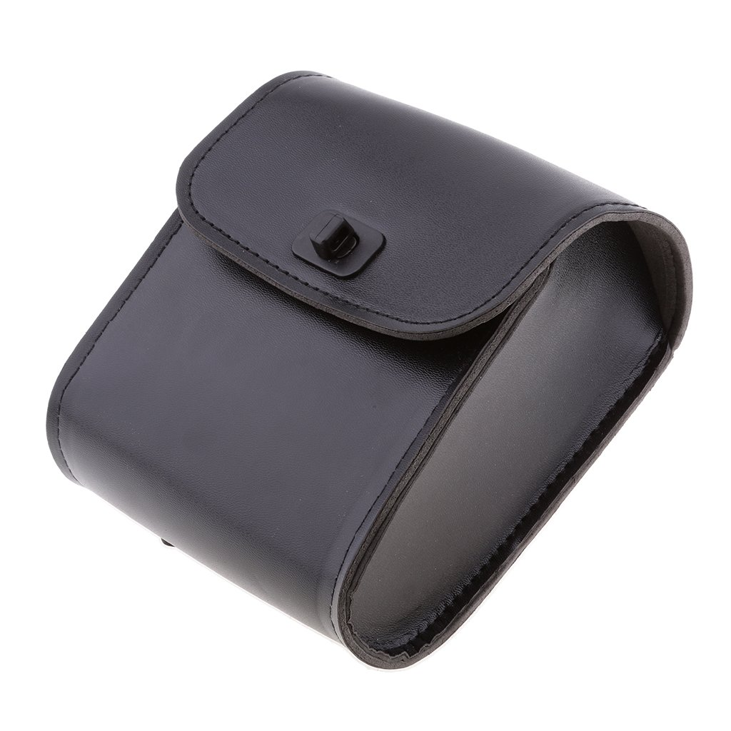 MagiDeal Motorcycle Bike Saddle Bags Saddlebags PU Leather Side Storage Fork Tool Pouch - Black by MagiDeal