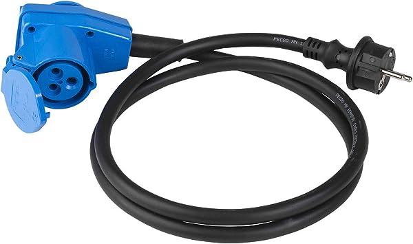 Schwarz // Blau I 60483 3-polige as 1,5 m Leitung f/ür Europa Schuko Stecker Schwabe CEE-Adapterleitung Caravan IP44 Kfz-Zubeh/ör 16 A CEE-Stecker /& Schutzkontaktkupplung 230 V Made in Germany