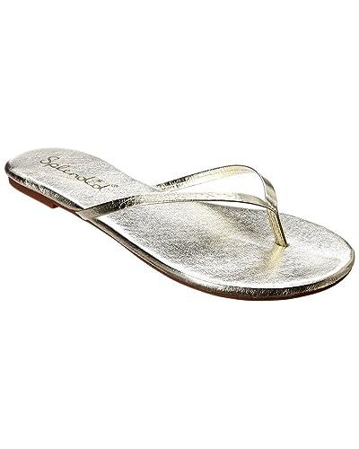 660a32c796a Splendid New Womens Madrid Gold Metallic Flip Flops Size 6