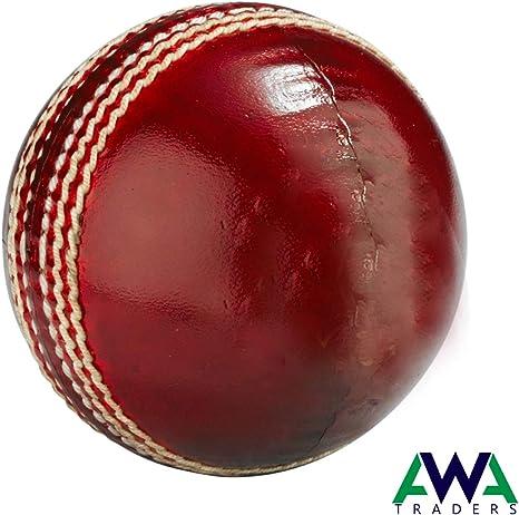 Pelota de Cricket de Piel auténtica, 5.50 onzas, Cosido a Mano ...