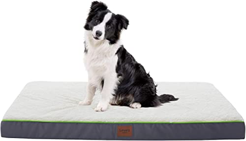 Love s cabin Large Dog Bed for Small, Medium, Large Dogs with Removable Washable Cover – Orthopedic Memory Foam Sherpa Dog and Cat Bed for Crate, Cage and Kennel- 6 Sides Waterproof Cozy Dog Bed