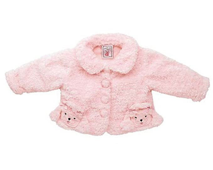 c690162e4 Amazon.com  Fuzzy Wear Girls Pink Poodle Jacket