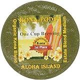 Single-Serve Cups of Kona Hawaiian Coffee for Use With Keurig K-cup Brewing Systems, Estate Blend, Mellow Medium Roast Kona Blend, 12-count Box of Kona-One-Cups by Aloha Island Coffee