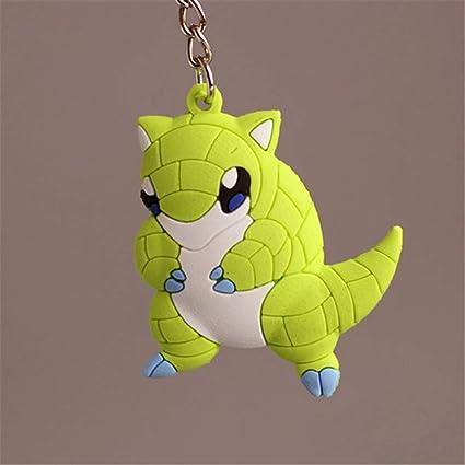 Amazon.com: Anime PVC Keychain Pocket Monsters Pikachu ...