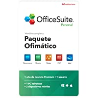 OfficeSuite Personal Compatible con Office Word Excel y PowerPoint® y PDF para PC Windows 10, 8.1, 8, 7 - licencia de 1…